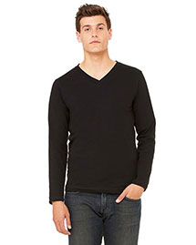 Bella 3425 Men Jersey Long-Sleeve V-Neck T-Shirt