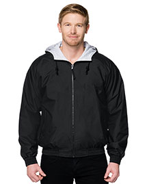 Tri-Mountain 3600 Men Nylon Hooded Jacket With Jersey Lining at bigntallapparel