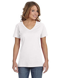 Anvil 392A Women Sheer V-Neck T-Shirt