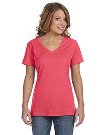 Anvil 392A Women Sheer V-Neck T-Shirt