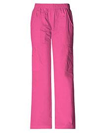 Cherokee Workwear 4005 Women Stretch Mid Rise Pull-On Pant Cargo at bigntallapparel