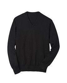 Edwards 4070 Men V-Neck  Fine Gauge Long Sleeve Pullover at bigntallapparel