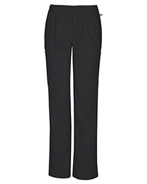 Cherokee Workwear 44200AP Women Mid Rise Straight Leg Elastic Waist Pant