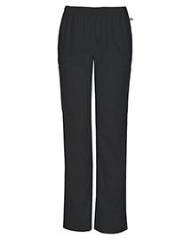 Cherokee Workwear 44200A Women Mid Rise Straight Leg Elastic Waist Pant