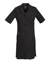 Cherokee Workwear 4508 Women Button Front Dress at bigntallapparel