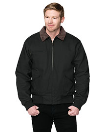 Tri-Mountain 4700 Men Big And Tall Canvas Work Jacket With Removable Wool Liner