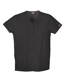 Cherokee Workwear 4770 Women Snap Front V-Neck Top