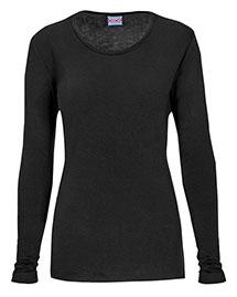 Cherokee Workwear 4881 Women Long Sleeve Knit Tee