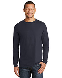Hanes 5186 Men Beefy 100% Cotton Long Sleeve T Shirt