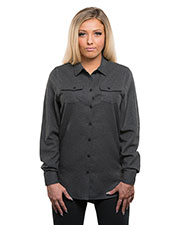 Burnside 5200 Women Ladies' Solid Flannel Shirt