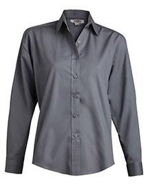 Edwards 5363 Women Long Sleeve  Value Broadcloth Shirt at bigntallapparel