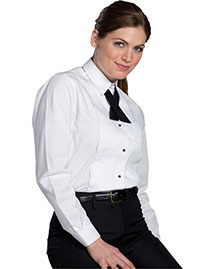 Edwards 5393 Women Tuxedo Shirt 1/4 Pleat at bigntallapparel