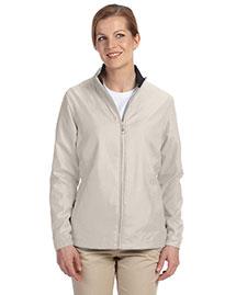 Ashworth 5401C Women Full-Zip Lined Wind Jacket at bigntallapparel