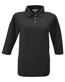 Tri-Mountain 601 Women 60/40 Pique 3/4 Sleeve Golf Shirt