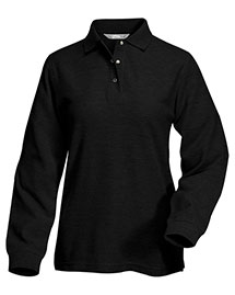 Tri-Mountain 612 Women 60/40 Long Sleeve Easy Care Knit Shirt With Snap Closure. Ideal Cook at bigntallapparel
