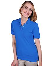 Blue Generation BG6203 Women Ladies Short Sleeve Teflon Treated Piques No Pocket  -  Turquoise 3 Extra Large Solid