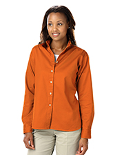 Blue Generation BG6213 Women Ladies Long Sleeve 100% Cotton Twill  -  Orange 3 Extra Large Solid