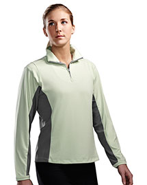 Tri-Mountain 621 Women Poly Ultracool 1/4 Zip Pullover Shirt at bigntallapparel