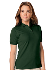 Blue Generation BG6224 Women Ladies Wicking Solid Snag Resist Polo   -  Hunter 2 Extra Large Solid