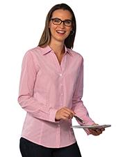 Blue Generation BG6269 Women Ladies Long Sleeve Untucked Gingham Plaid No Pocket Rose Small Checks