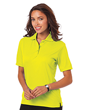 Blue Generation BG6300 Women Ladies Value Moisture Wicking S/S Polo  -  Optic Yellow Large Solid