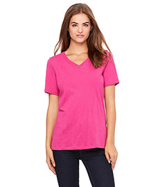 Bella 6405 Women Missy Jersey Short-Sleeve V-Neck T-Shirt