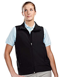 Tri-Mountain 6410 Women Poly Stretch Bonded Soft Shell Vest at bigntallapparel