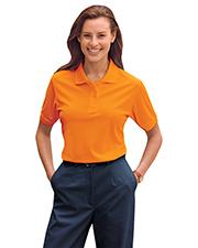 Blue Generation BG6510 Women Ladies High Visibility Pique Polo  -  Orange 2 Extra Large Solid
