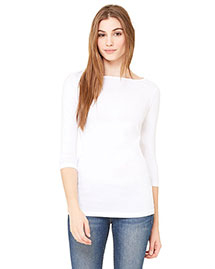 Bella 6515 Women Jersey Half-Sleeve Boatneck T-Shirt at bigntallapparel