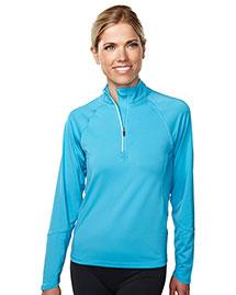 Tri-Mountain 657 Women 88% Polyester 12% Spandex Knit Quarter Zipper Jogging Pullover at bigntallapparel