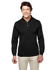 Tri-Mountain 658 Men Poly Ultracool Pique Long Sleeve Golf Shirt