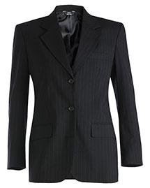 Edwards 6660 Women Pinstripe Wool Blend Suit Coat at bigntallapparel