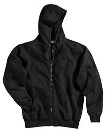Tri-Mountain 690 Men Cotton/Poly Sueded Finish Hooded Full Zip Sweatshirt at bigntallapparel