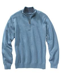 Edwards 712 Women  Quarter Zip Sweater at bigntallapparel