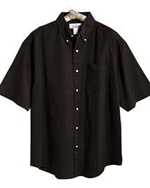 Tri-Mountain 718 Men Easy Care Short Sleeve Twill Dress Shirt at bigntallapparel