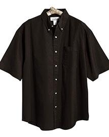 Tri-Mountain 718 Men Easy Care Short Sleeve Twill Dress Shirt at bigntallapparel
