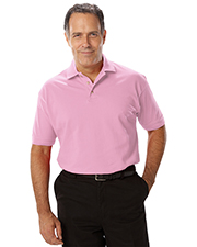 Blue Generation BG7204 Men Short Sleeve Superblend Pique No Pocket  -  Pink 2 Extra Large Solid