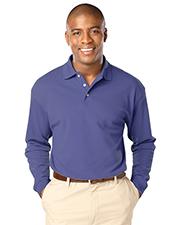 Blue Generation BG7207 Men Long Sleeve Superblend Pique No Pocket  -  French Blue Extra Large  Solid