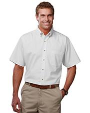 Blue Generation BG7217S Men Short Sleeve Teflon Twill  -  White 2 Extra Large Solid