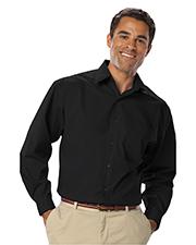 Blue Generation BG7218 Men Long Sleeve Easy Care Stretch Poplin  -  Black 2 Extra Large Solid
