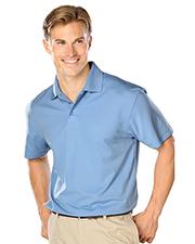 Blue Generation BG7224 Men Wicking Solid Snag Resist Polo   -  Light Blue Small Solid