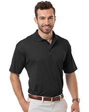 Blue Generation BG7227 Men Adult Moisture Wicking S/S Tonal Stripe  -  Black 2 Extra Large Solid