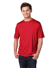 Blue Generation BG7302 Men Adult Solid Wicking T   -  Red 2 Extra Large Solid