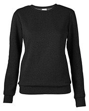 Soffe 7332V Women  Core Fleece Crew Sweatshirt at bigntallapparel