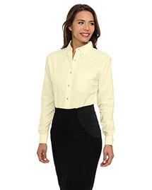 Tri-Mountain 742 Women 60/40 Stain Resistant Long Sleeve Oxford Shirt at bigntallapparel