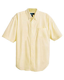 Tri-Mountain 748 Men Stain Resistant Short Sleeve Oxford Dress Shirt