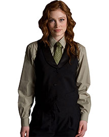 Edwards 7495 Women Black Satin Shawl Vest