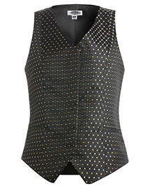 Edwards 7497 Women Fly Front Diamonds And Dots Vest at bigntallapparel