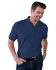 Blue Generation BG7500 Men Value Soft Touch Pique Polo  -  Navy 3 Extra Large Solid