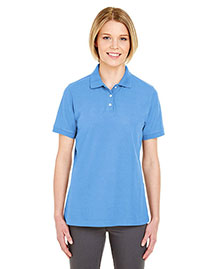 Ultraclub 7510L Women Platinum Honeycomb Pique Polo